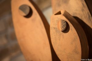 Vase , grès roux, céramique terenko, saint avé